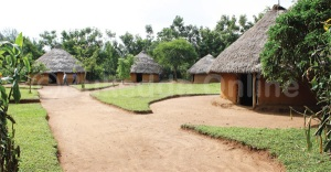 Fullscale model of traditional Wanga homestead